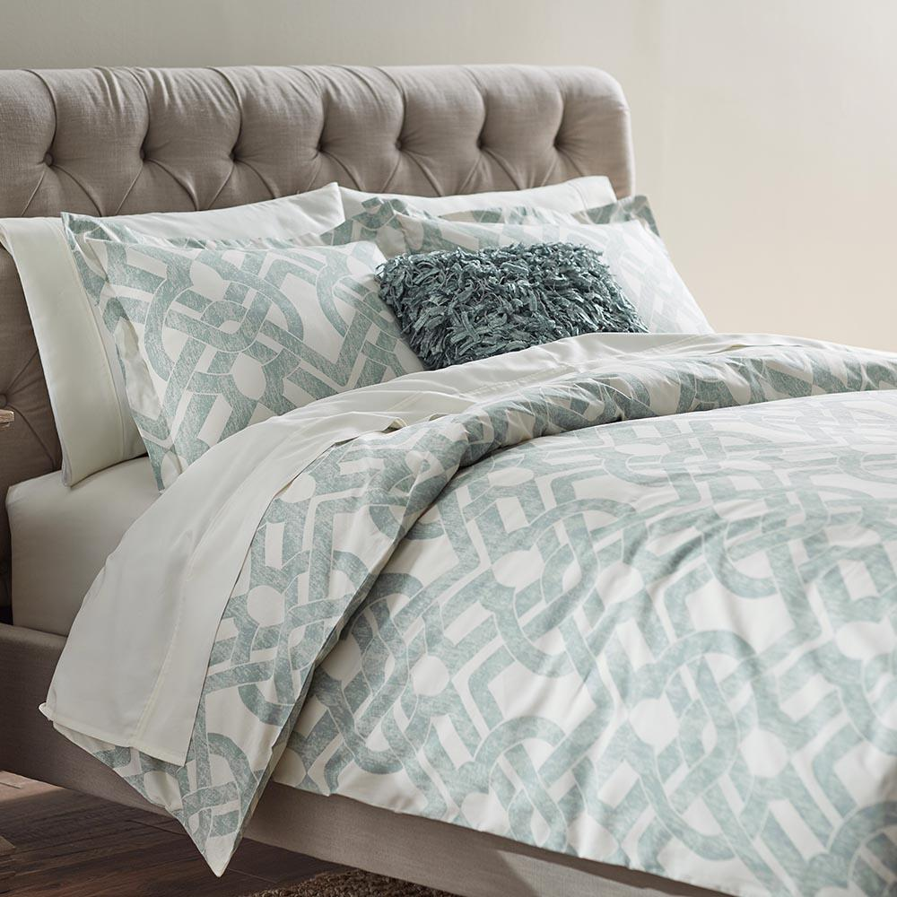 Waveland Green And Blue Twin Duvet, Blanket Bed Cover Home
