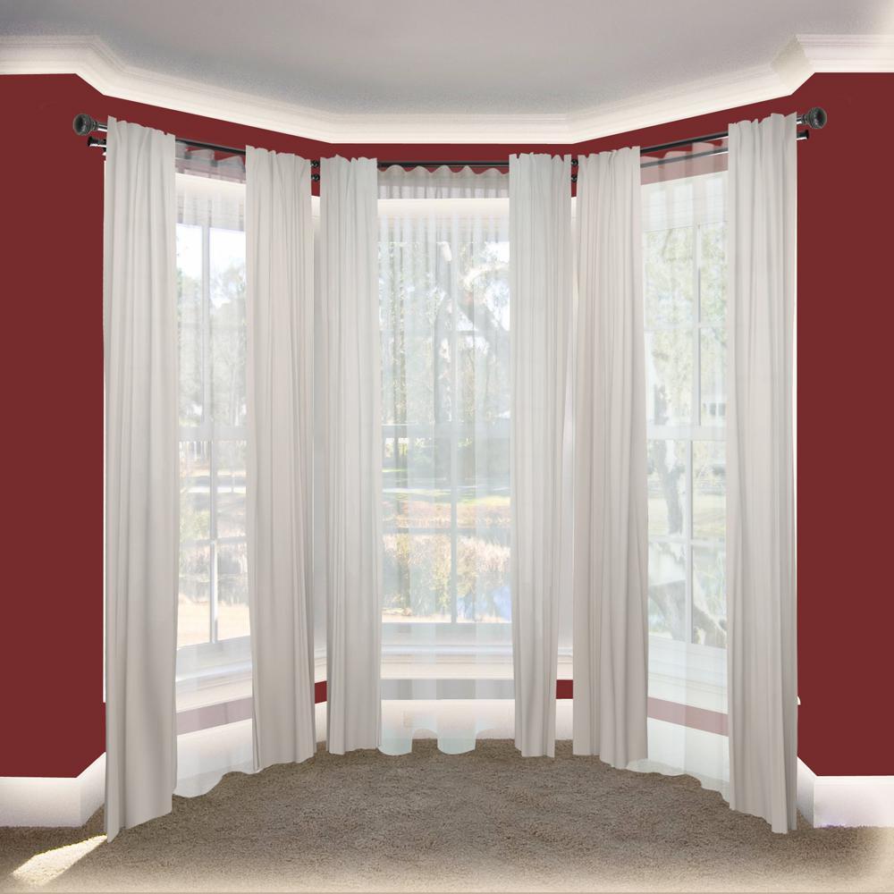 Rod Desyne Ornament 13 16 In Bay Window Double Curtain Rod 20 In