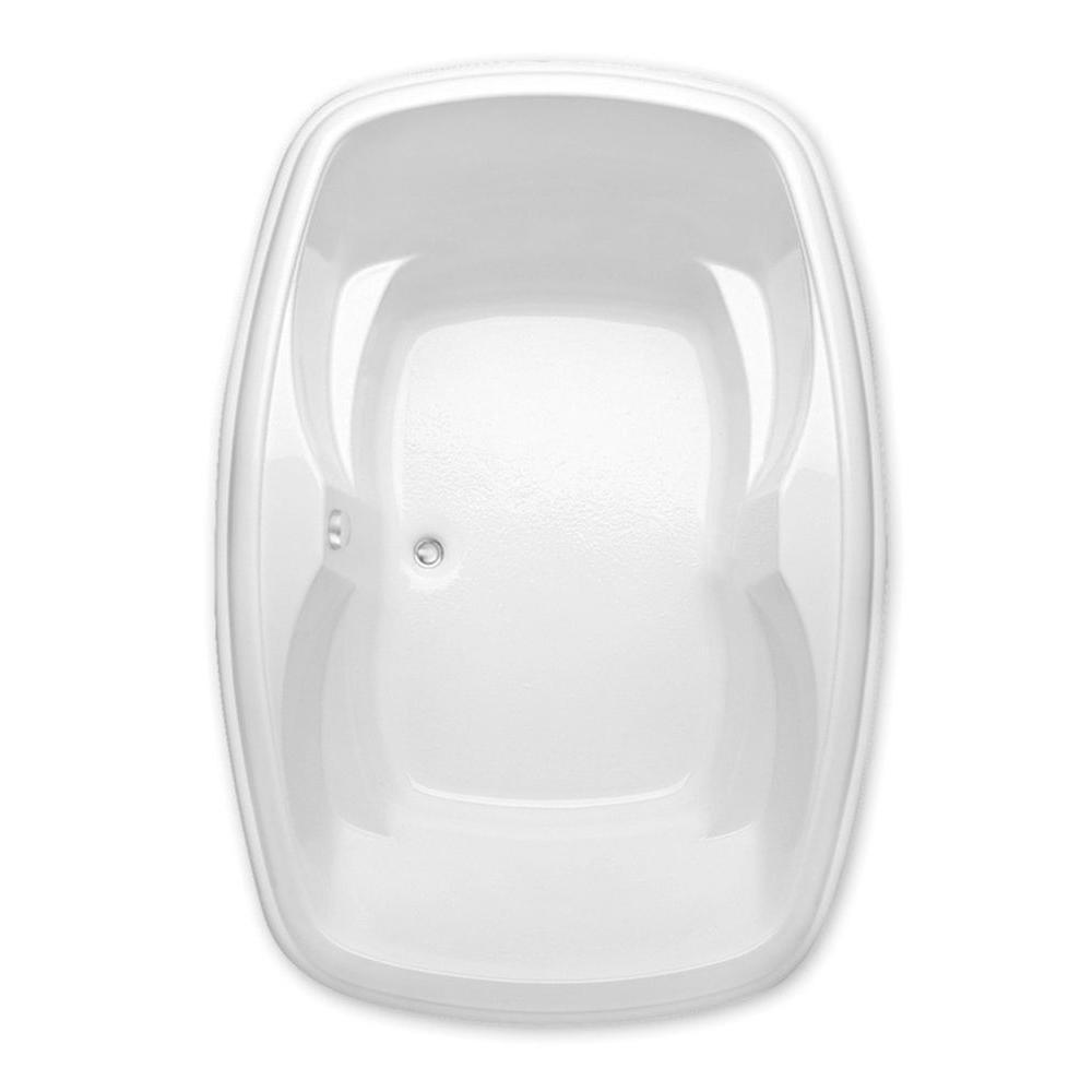 Azra II 6 ft. Acrylic Center Drain Oval Drop-in Soaking Bathtub