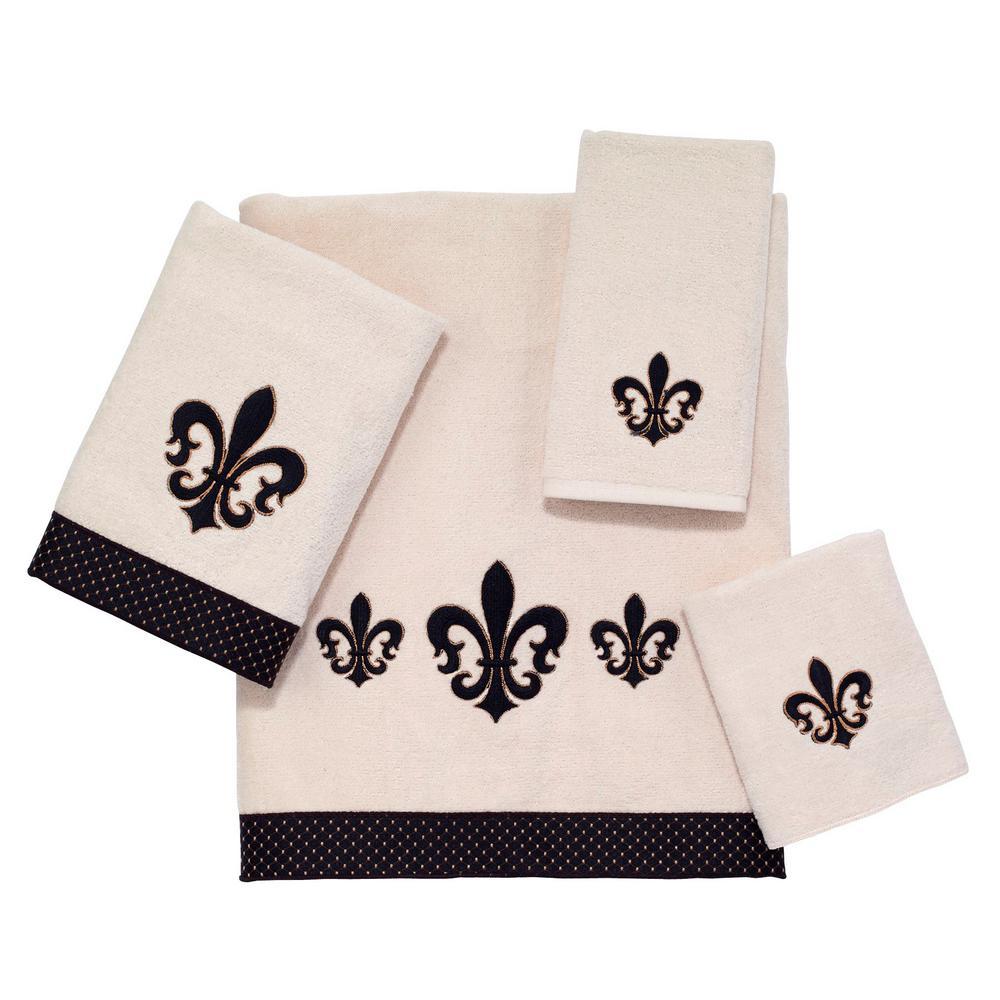 Luxemboug 4-Piece Bath Towel Set in Ivory