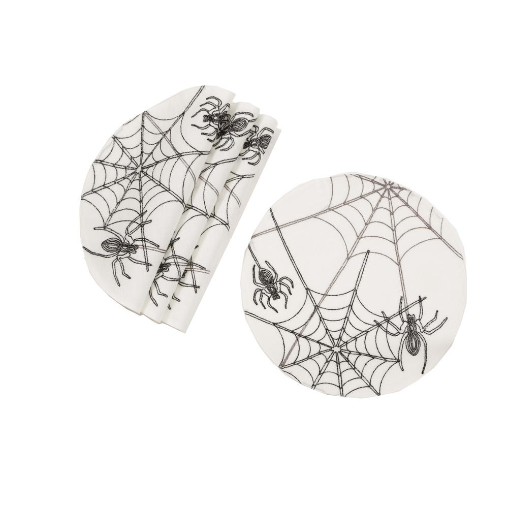 Xia Home Fashions 0 1 In H X 16 In W Halloween Spider Web Double