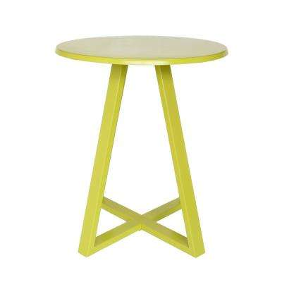 Haiti Matte Lime Green Round Metal Outdoor Bistro Table
