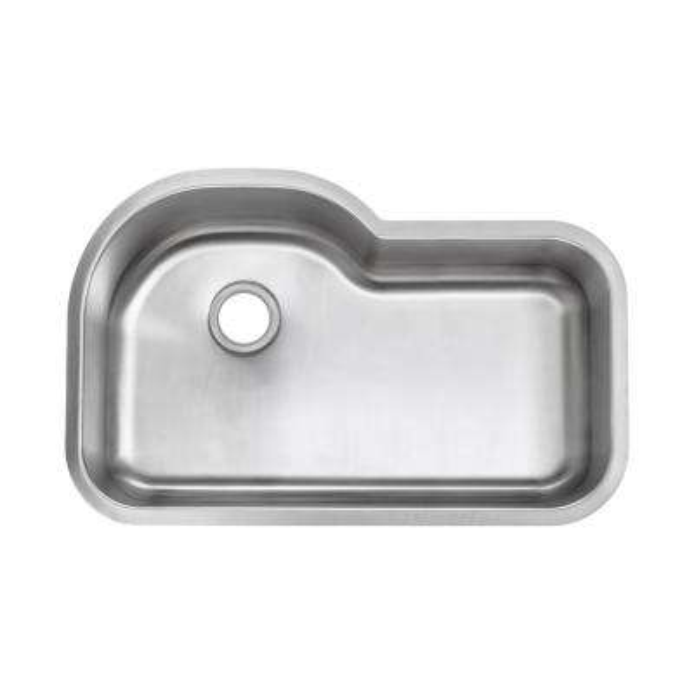 Undermount 16-Gauge Stainless Steel 32 in. 0-Hole Euro Style Single Bowl Kitchen Sink