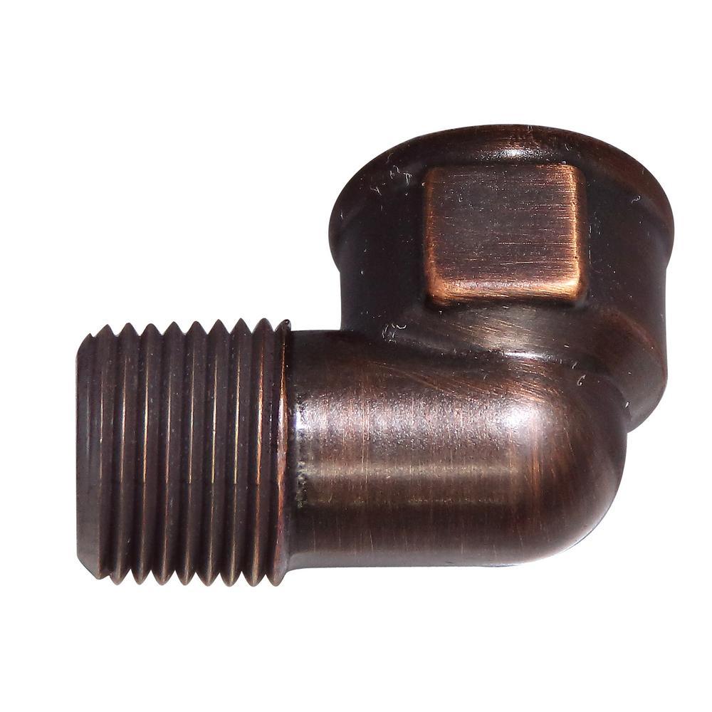 3/8 in. Brass 90 Degree MIP x FIP Elbow in Oil Rubbed Bronze
