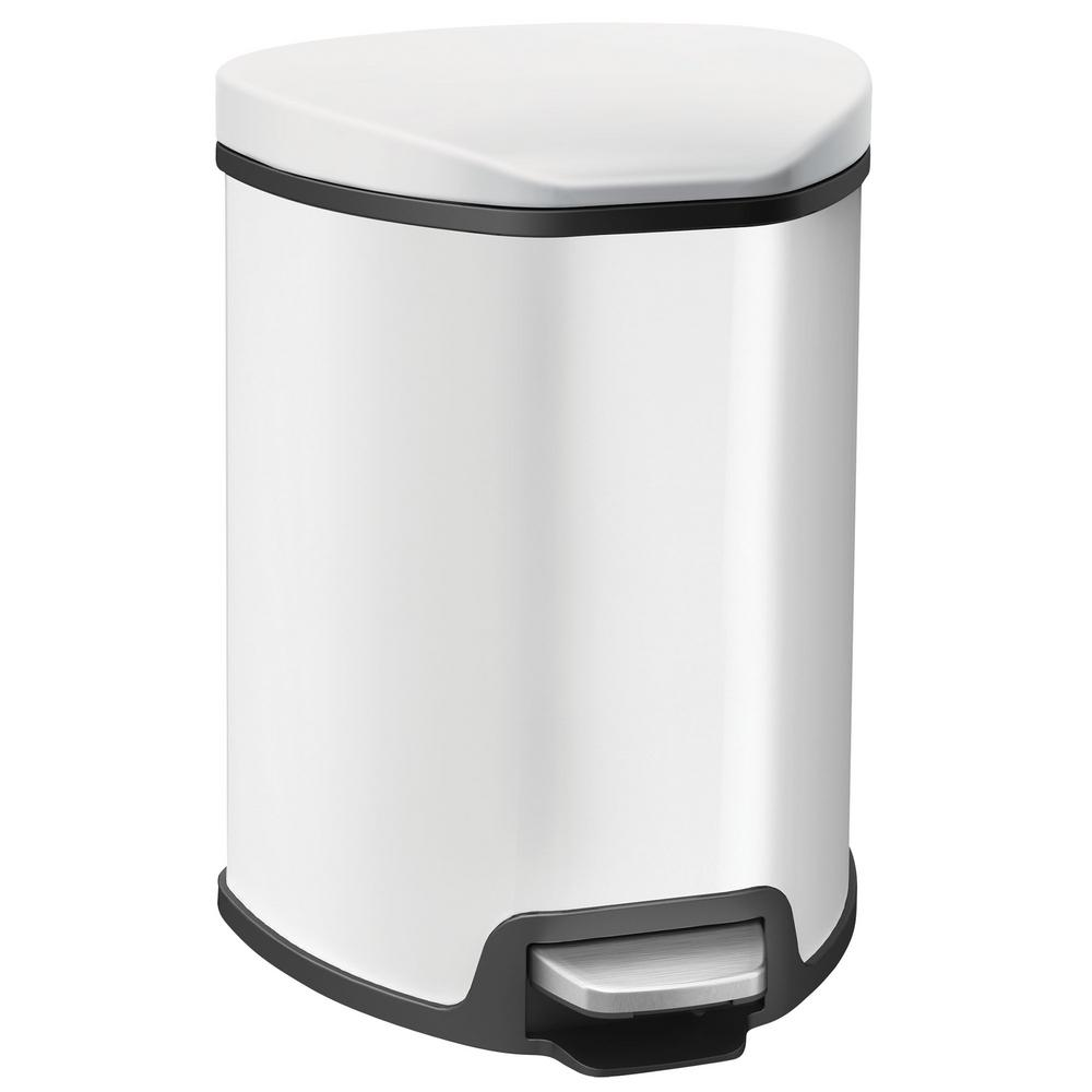 Household Essentials 1.25 Gal. Indoor Trash Can in White-92091-1 ...