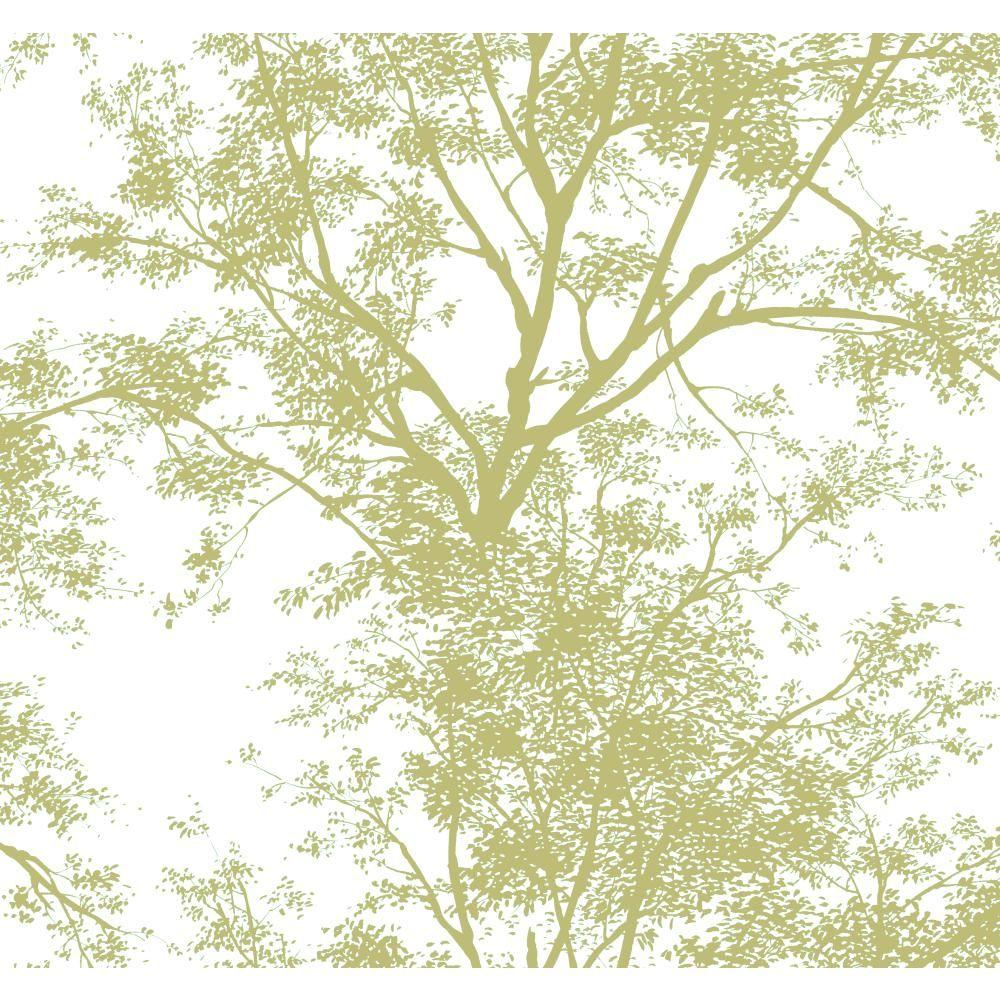 York wallcoverings tree silhouette wallpaper ap7504 the for Tree wallpaper for home