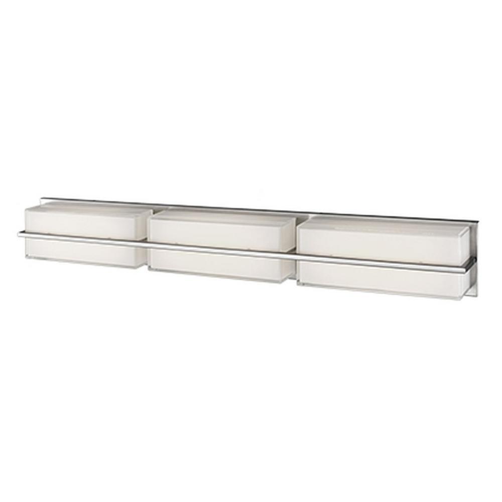 Nevaeh 1-Light Brushed Nickel 60-Watt Equivalence Integrated LED Bath Light