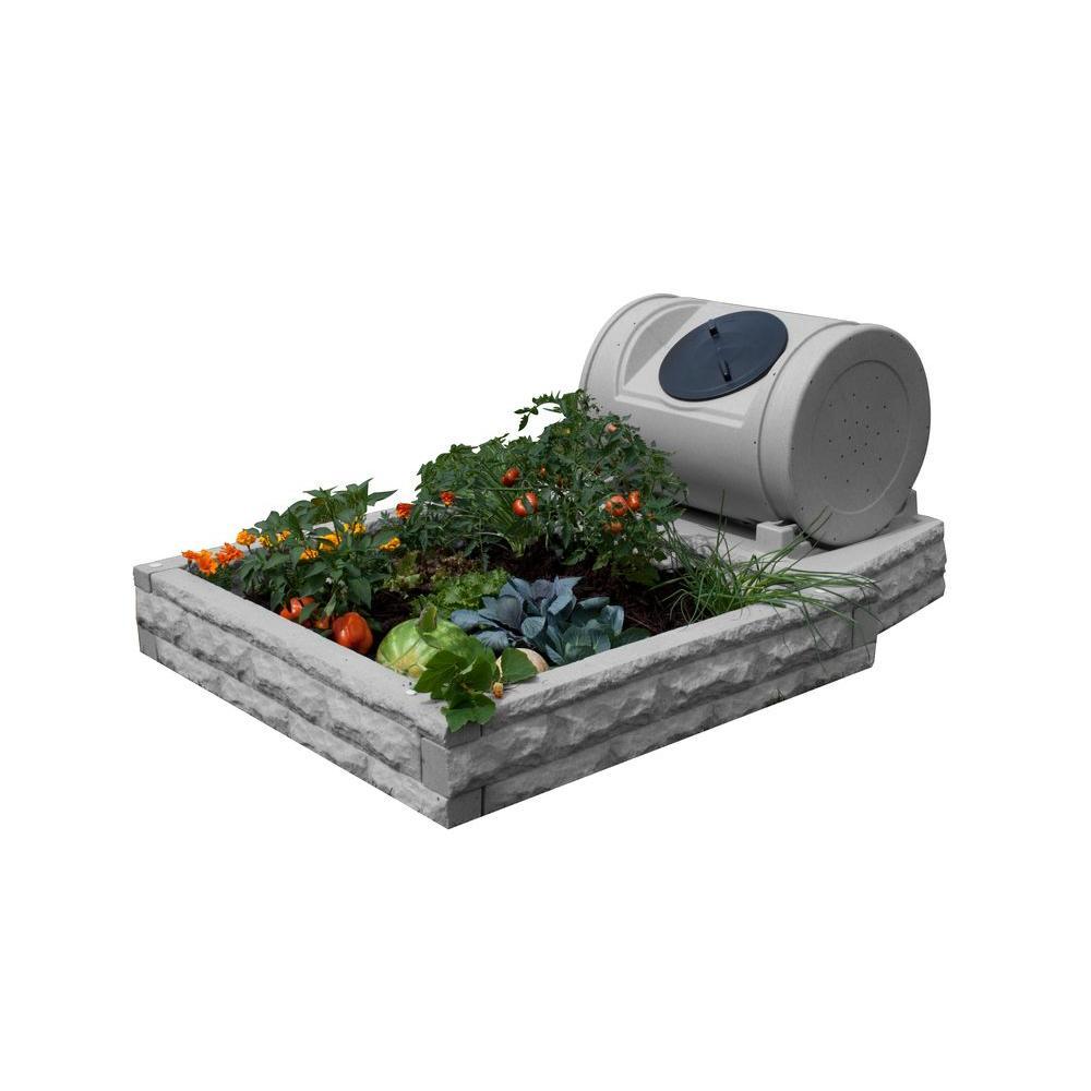 Hybrid Light Granite Raised Garden Bed