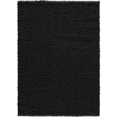 Pacifica Twist Black 8 ft. x 10 ft. Area Rug