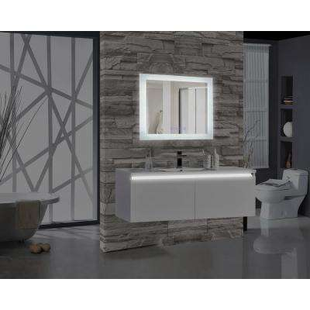 Encore BLU103 36 in. W x 27 in. H Rectangular LED Illuminated Bathroom Mirror with Bluetooth Audio Speakers