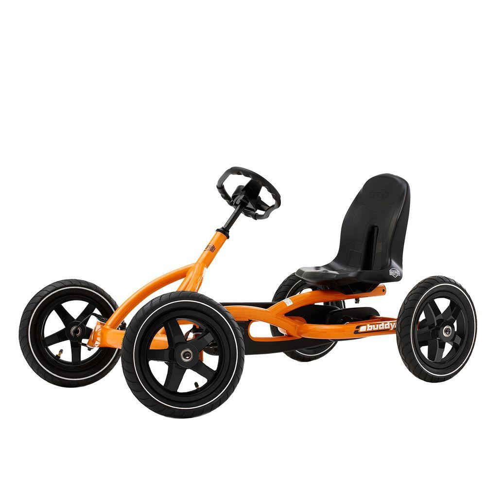 Buddy Pedal Go Kart Car Pneumatic Tires Orange Kids Ride On Toy S Boys Gift
