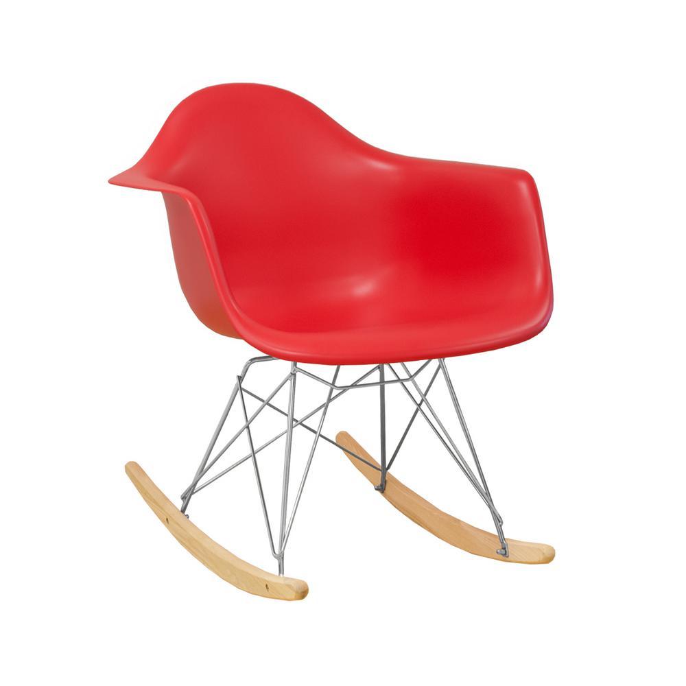 Remarkable Paris Tower Rocker Red Lounge Chair Lamtechconsult Wood Chair Design Ideas Lamtechconsultcom