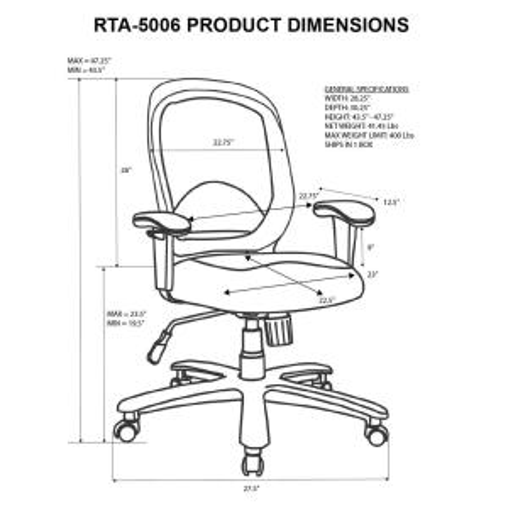 Peachy Techni Mobili Black Comfortable Big And Tall Height Inzonedesignstudio Interior Chair Design Inzonedesignstudiocom