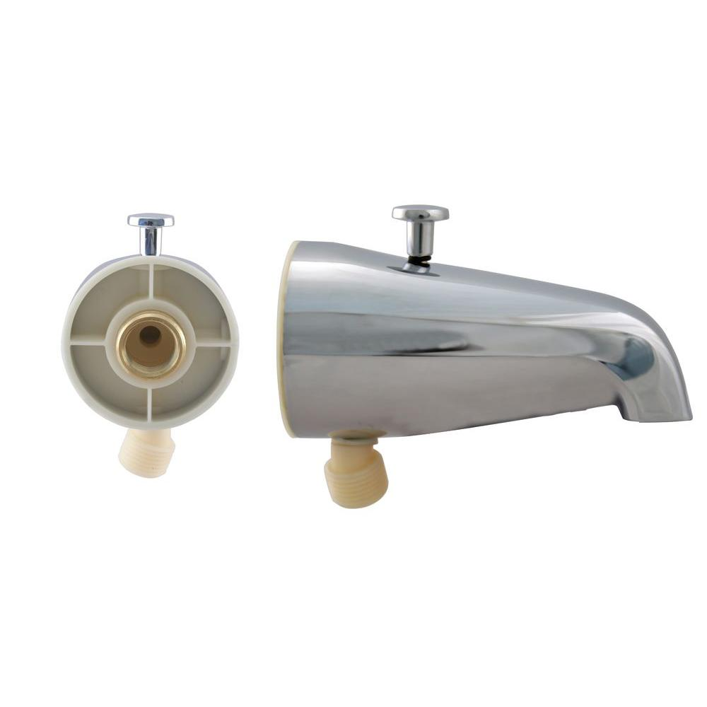 Westbrass 5-1/4 in. Diverter Tub Spout in Chrome-DISCONTINUED