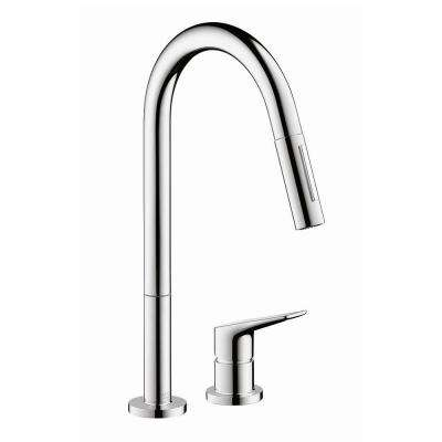 Axor Citterio M Single-Handle Pull-Down Sprayer Kitchen Faucet in Chrome