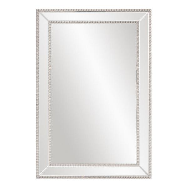 Medium Rectangle Mirrored Beveled Glass Contemporary Mirror (31.5 in. H x 47.25 in. W)