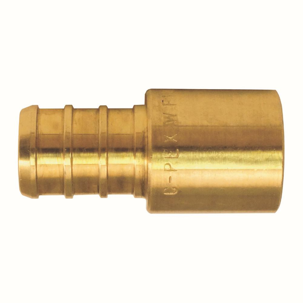 "Brass Crimp Fittings 25 1//2/"" PEX x 3//4/"" Female Sweat Adapters"