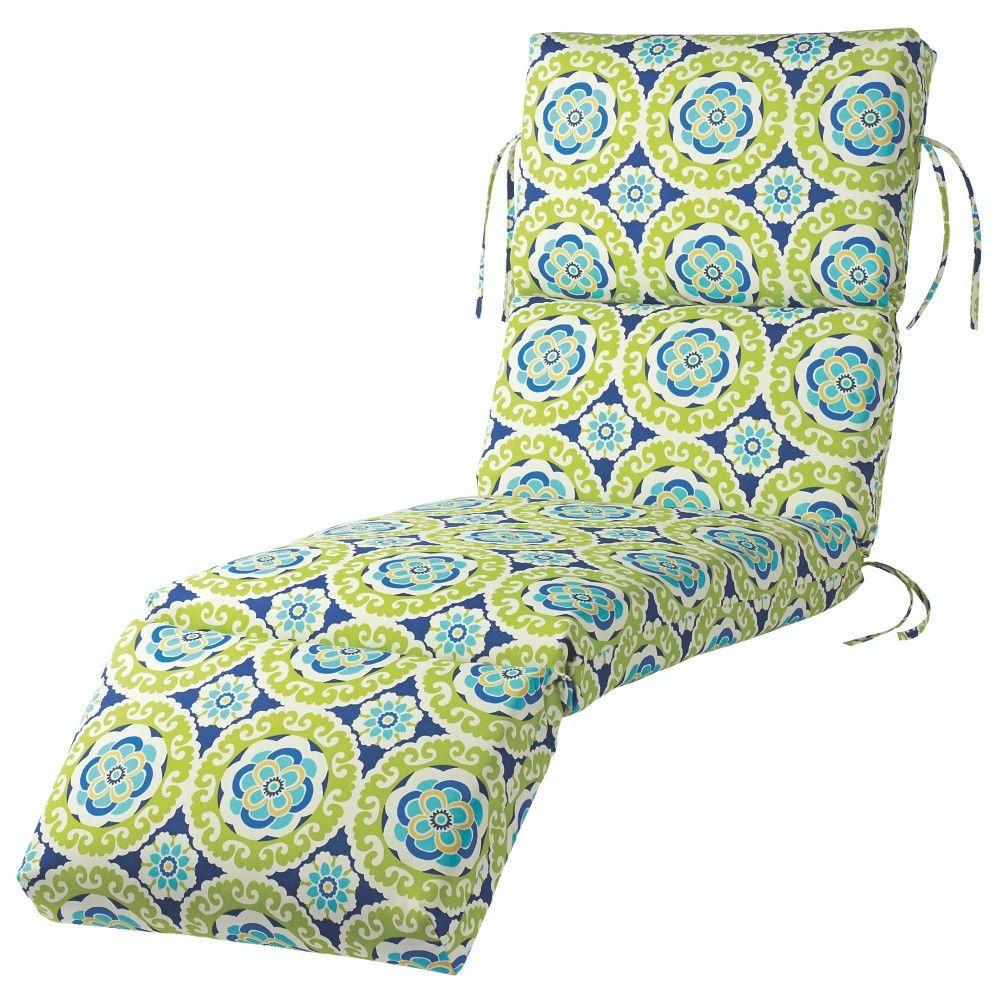 Marvelous Home Decorators Collection Halina Wasabi Outdoor Chaise Lounge Cushion