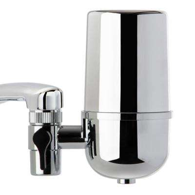 DF1 500 Gal. Faucet Mount Water Filtration System with Chrome Finish, BPA Free