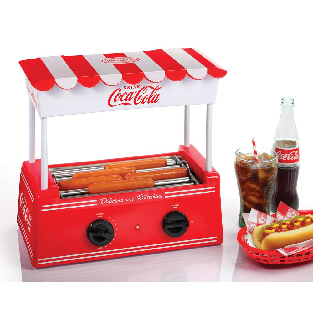 nostalgia coca cola hot dog roller grill hdr565coke the. Black Bedroom Furniture Sets. Home Design Ideas