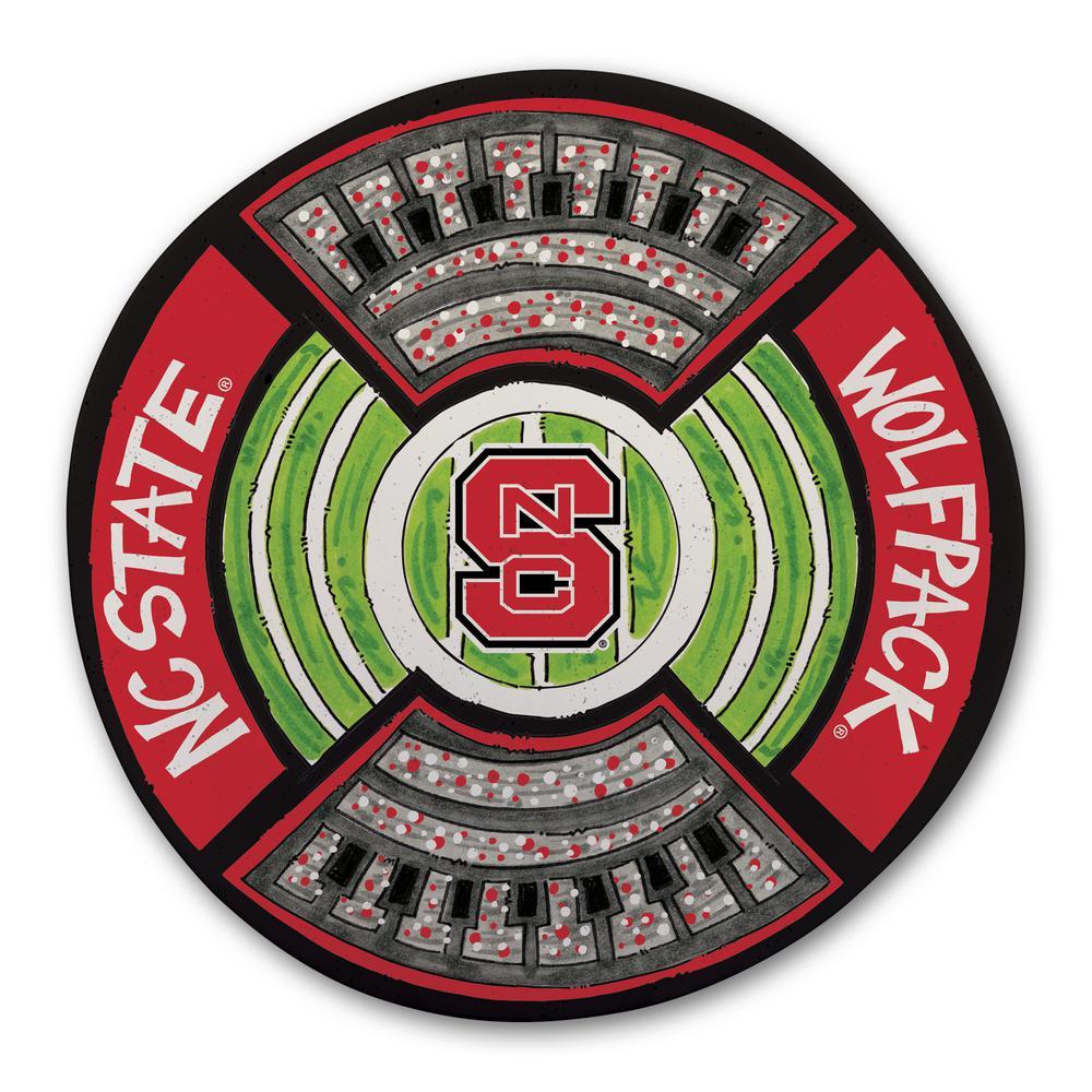 NC State Football Stadium Melamine Platter