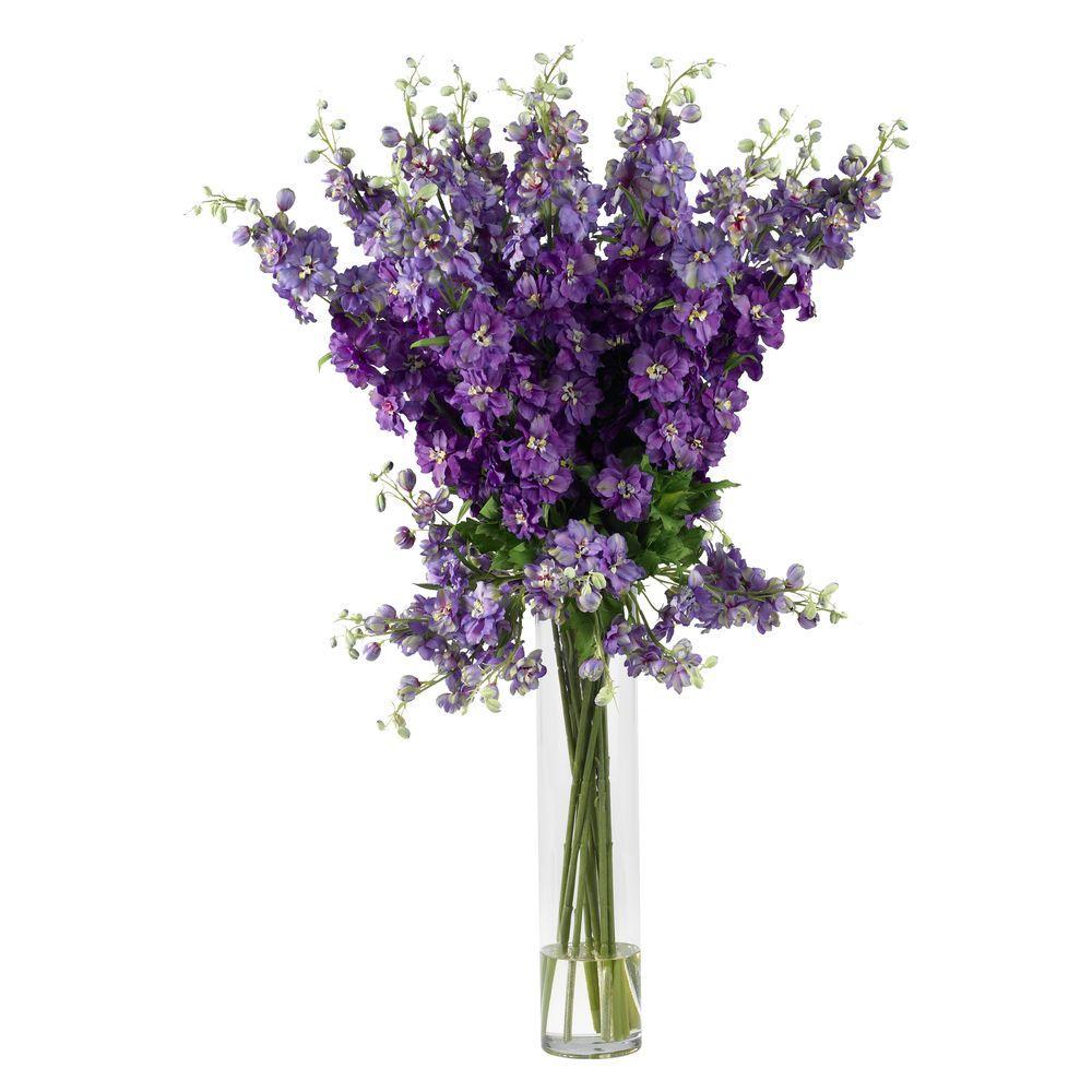 38 in. H Purple Delphinium Silk Flower Arrangement