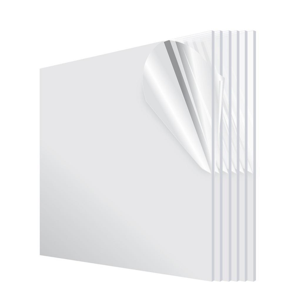 AdirOffice 12 in. x 24 in. x 1/8 in. Plexiglass Acrylic  Sheet (6-Pack)