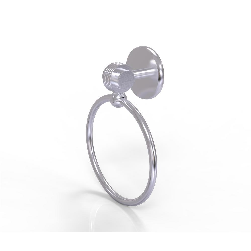 Allied Brass Satellite Orbit Two Collection Towel Ring with Groovy Accent in Satin Chrome