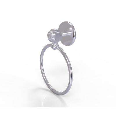 Satellite Orbit Two Collection Towel Ring with Groovy Accent in Satin Chrome