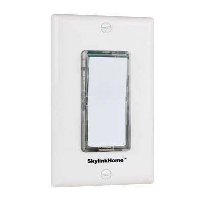 TB-318 Wireless Wall Mounted Light Switch Transmitter-White for SkylinkHome Receivers