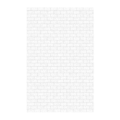 Subway Tile 62 in. x 96 in. 1-Piece Easy Up Adhesive Shower Panel in Arctic Granite