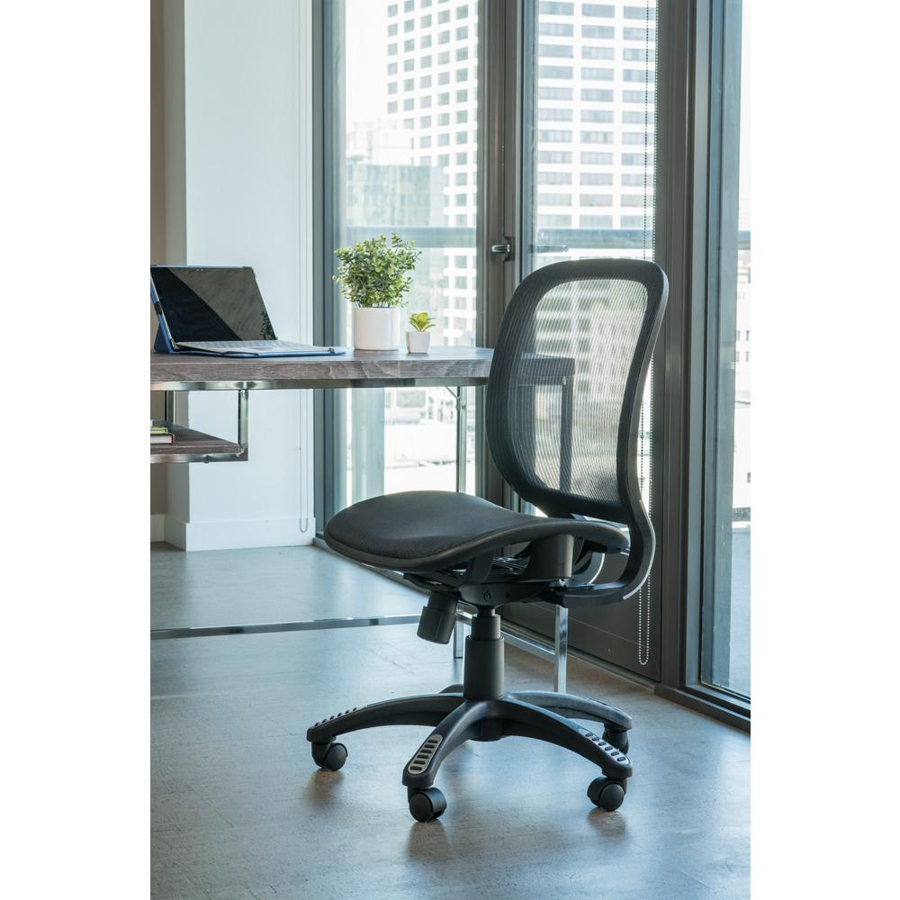 Canary Fully Meshed Ergo Black Office Chair with No Side Armrests and No Headrest  sc 1 st  The Home Depot & Canary Fully Meshed Ergo Black Office Chair with No Side Armrests ...