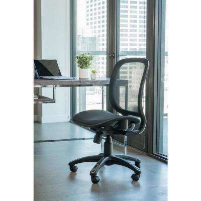 Fully Meshed Ergo Black Office Chair with No Side Armrests and No Headrest