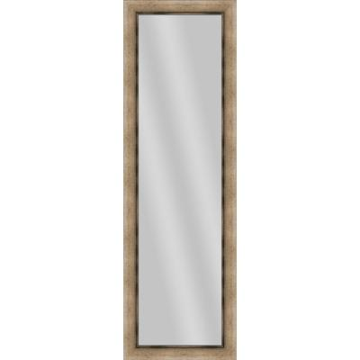 Large Rectangle Medium Champagne Art Deco Mirror (52.25 in. H x 16.25 in. W)