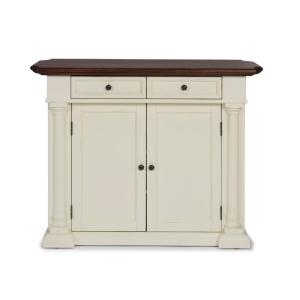 HOMESTYLES Beacon Hill White Solid Wood Top Kitchen Island ...
