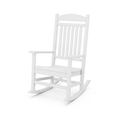 Grant Park White Plastic Outdoor Rocking Chair