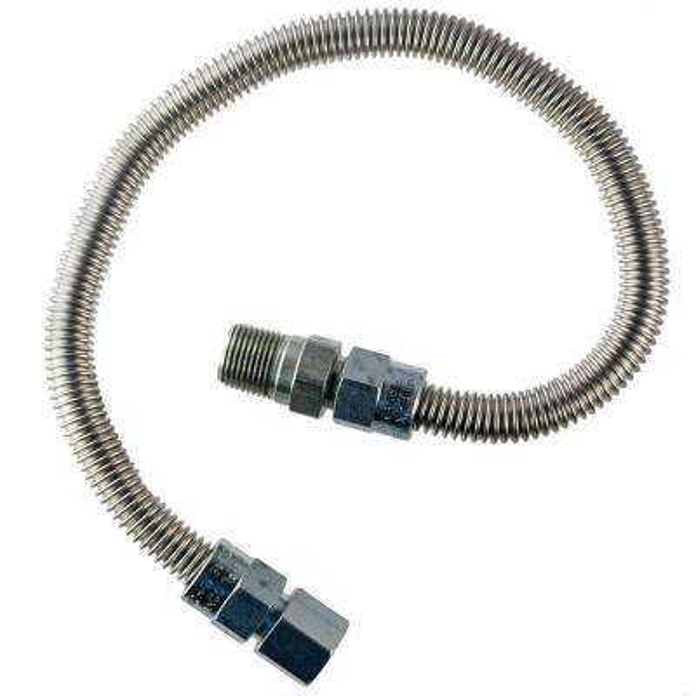 3/8 in.  MIP x 1/2 in.  FIP x 30 in.  Heater Connector 3/8 in O.D.