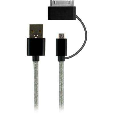 3 ft. 2-in-1 USB Micro Cable with 30 Pin Adapter