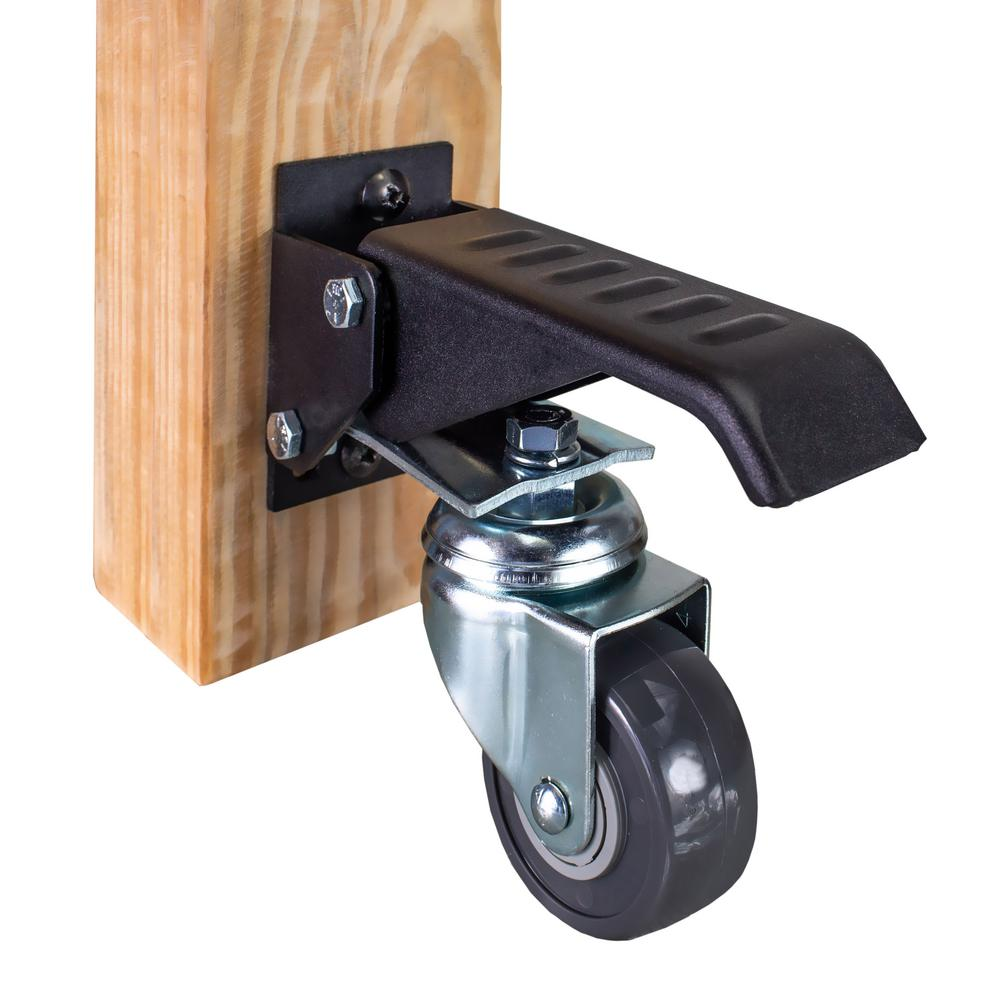 Workbench /& Table Leveling Caster Wheel w// No Smell Rubber Pad /& 550lb Capacity