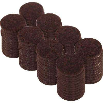 1 in. Heavy Duty Brown Self-Adhesive Felt Pads (96 per Pack)