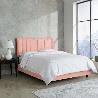 Linen Petal California King Channel Seam Bed. Pink   Beds   Headboards   Bedroom Furniture   The Home Depot