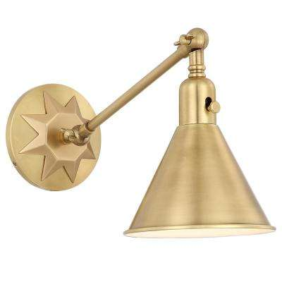 Morgan 1-Light Aged Brass Sconce