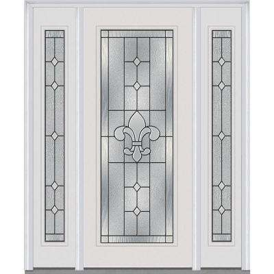 64 in. x 80 in. Carrollton Left-Hand Inswing Full Lite Decorative Painted  sc 1 st  The Home Depot & Steel Doors - Front Doors - The Home Depot