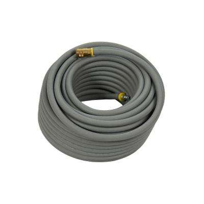 3/8 in. x 50 ft. Premium Gray Rubber Air Hose with Couplers