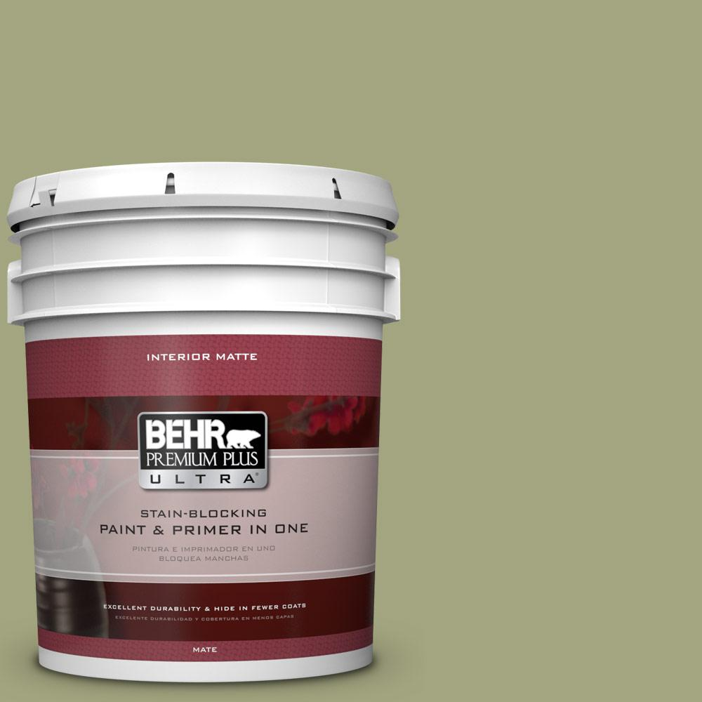 BEHR Premium Plus Ultra 5 gal. #410F-4 Mother Nature Flat/Matte Interior Paint