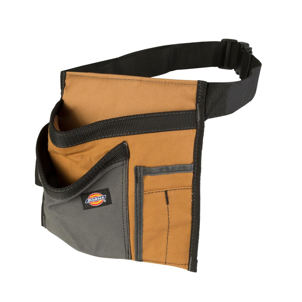 5-Pocket Single Side Tool Pouch / Work Apron, Tan