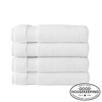 Egyptian Cotton Bath Sheet in White (Set of 4)