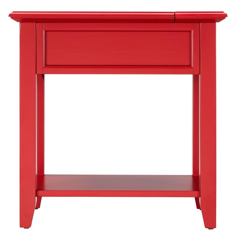 Superb Homesullivan Harrison Red Side Table 40E720A R The Home Depot Short Links Chair Design For Home Short Linksinfo