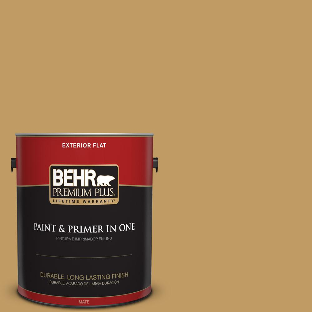 1-gal. #340F-6 Mojave Gold Flat Exterior Paint