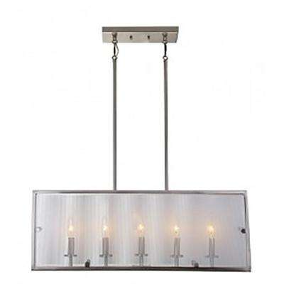 5-Light Satin Nickel Billiard Light